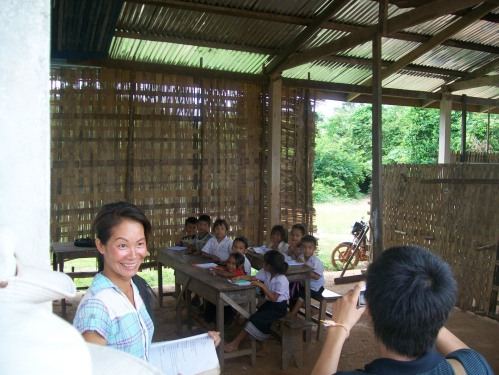 A grade 1 class in Nangom Mai school